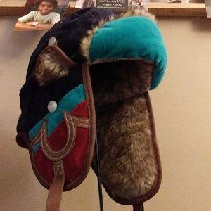 True Religion Winter Hat Fur lined earflaps